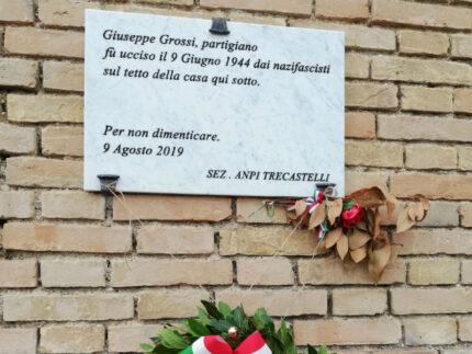 Targa a Giuseppe Grossi
