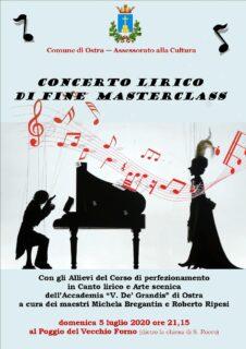 Concerto lirico a Ostra - locandina