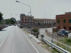 Senigallia: via Raffaello Sanzio all'incrocio con via Dogana Vecchia
