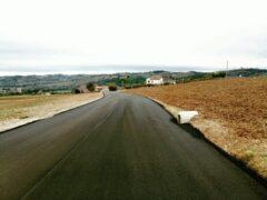 Strada San Vincenzo nel Comune di Corinaldo