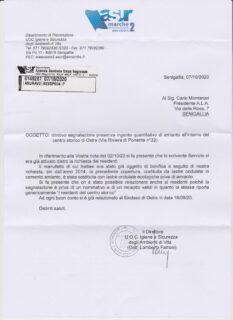 Amianto a Ostra: la risposta dell'Asur alla segnalazione dell'ALA