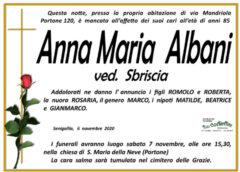 Anna Maria Albani, necrologio