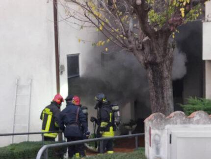 Incendio a Trecastelli