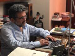 Dott. Gabriele Pagliariccio in collegamento con studenti del Perticari