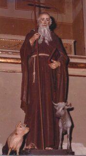 Statua di Sant'Antonio Abate a Ostra