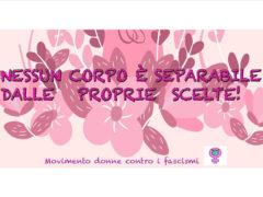 Presidio in piazza Roma a Senigallia organizzato da Movimento Donne contro i Fascismi