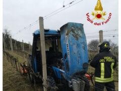 Incendio in un trattore