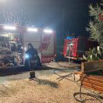 Incendio in un cantiere, intervento dei Vigili del fuco