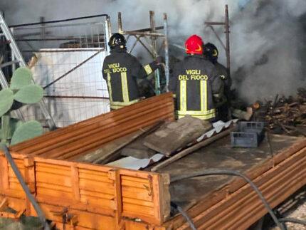 Intervento dei Vigili del fuoco di Senigallia