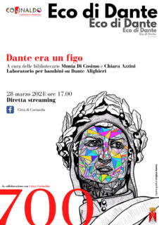 A 700 anni dalla nascita Corinaldo celebra Dante Alighieri - locandina incontro 28 marzo