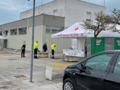 Hub vaccinale alla caserma dei Vigili del Fuoco di Senigallia