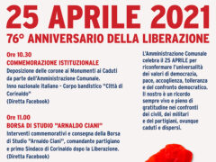 Locandina eventi 25 aprile
