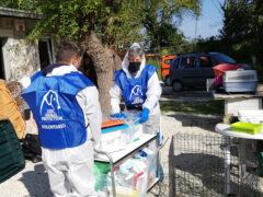 Volontari LNDC nell'Allevamento sequestrato a Trecastelli