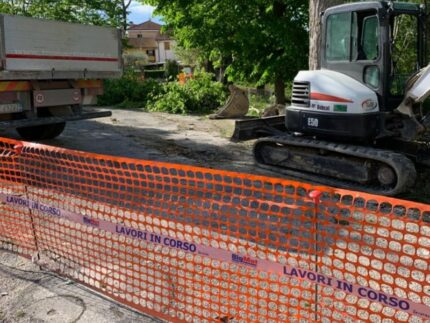 Lavori di manutenzione a fosso Porcozzone di Passo Ripe