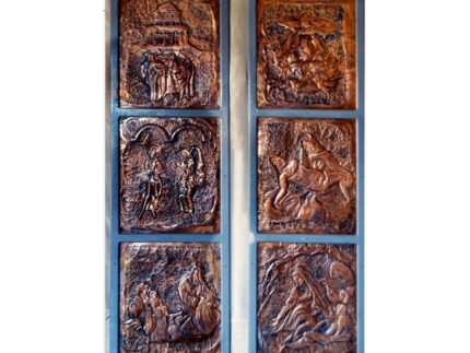 sei formelle in rame 65 x 55 rappresentanti l'Annunciazione