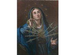 Quadro restaurato della Madonna Addolorata.