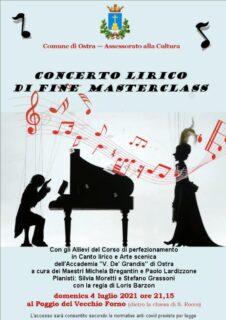 Saggio finale della Masterclass di Canto Lirico a Ostra - locandina