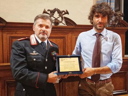 Corinaldo saluta e ringrazia il maresciallo Francesco Gagliardi