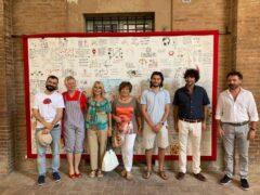 """Inaugurata a Corinaldo la """"Bandiera della Memoria. Legame - Ricostruiamo la vicinanza"""""""