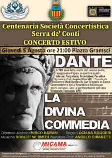 Locandina spettacolo celebrativo Dante Alighieri