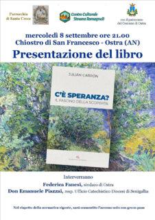 """Presentazione libro """"C'è speranza"""" a Ostra - locandina"""