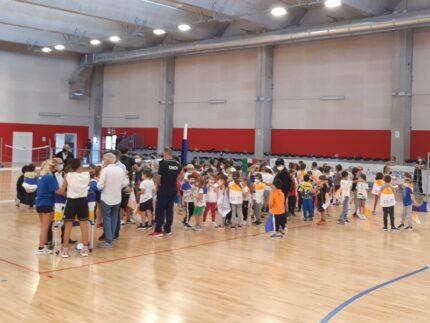 Alunni della scuola primaria Goretti di Corinaldo al nuovo palasport