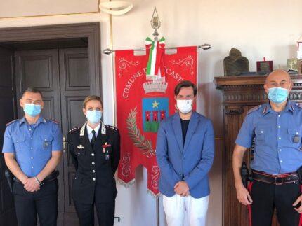 Saluto al nuovo comandante dei Carabinieri di Trecastelli, David Galluzzi