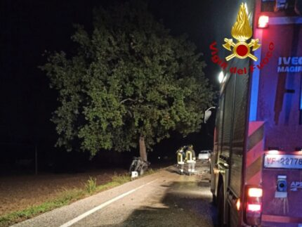 Incidente lungo l'Arceviese a Ostra Vetere