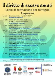 La serie di appuntamenti per il corso di formazione dedicato alle famiglie a Corinaldo