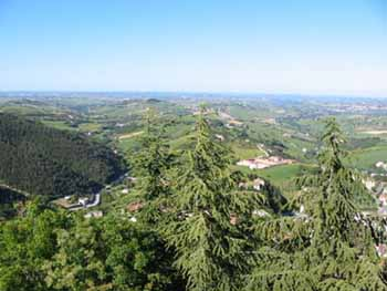 Vista panorama da Arcevia