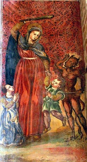 Affreco, anonimo marchigiano, Madonna del Soccorso