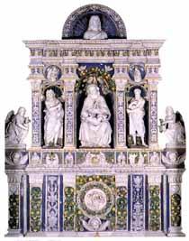 Vergine dei Miracoli, dossale di Luca della Robbia, San Medardo