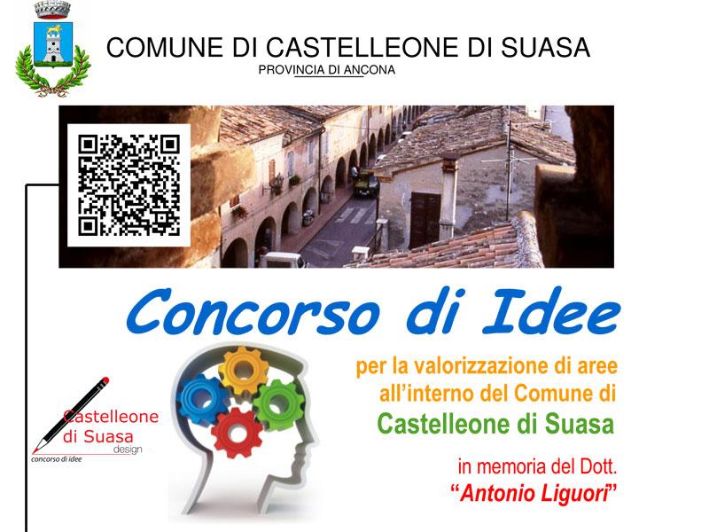 """volantino """"concorso di Idee"""" Castelleone di Suasa"""